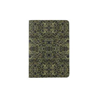Golden Geo Tribal Pattern Passport Holder