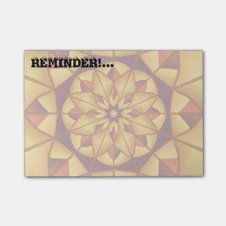 Golden geometric flourish post-it® notes