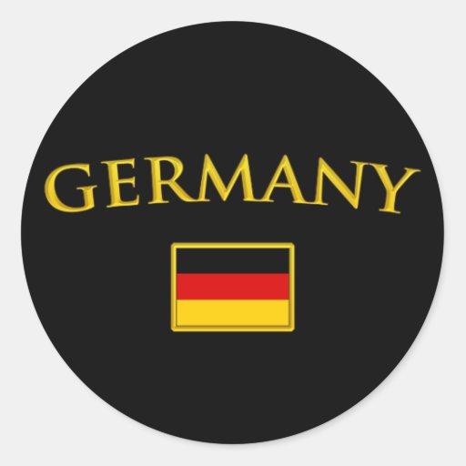 Golden Germany Classic Round Sticker