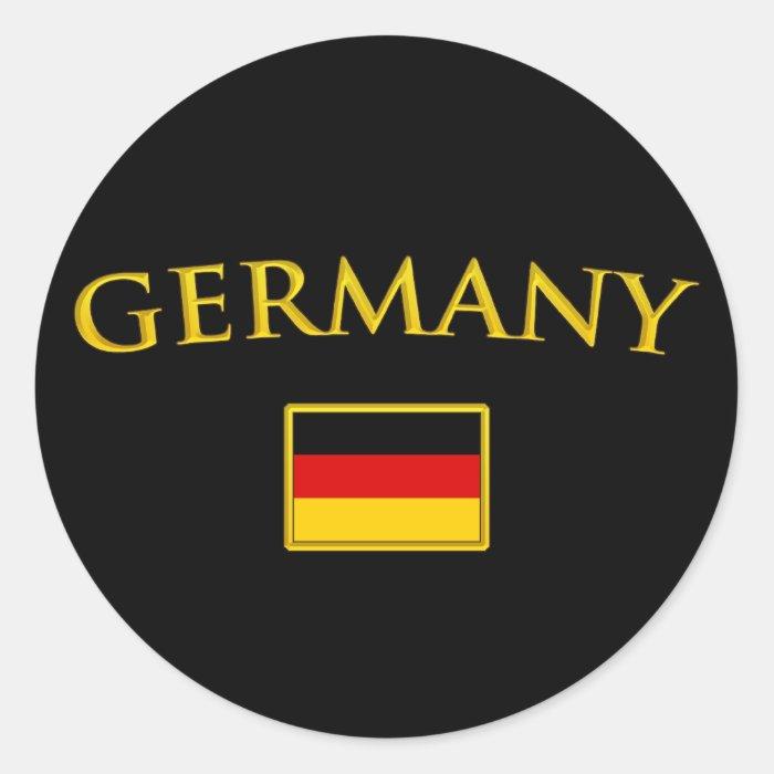 Golden Germany Round Sticker