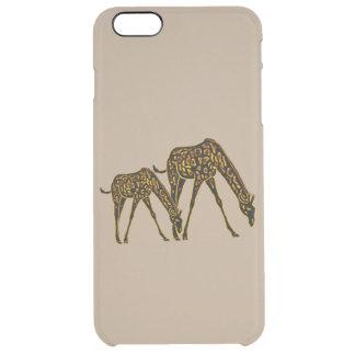Golden Giraffes Clear iPhone 6 Plus Case