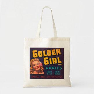 Golden Girl Apples Tote Bags