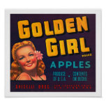 Golden Girl Apples Posters