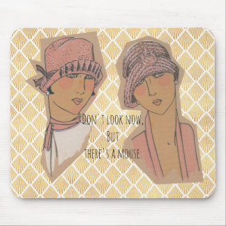 Golden Glam Girls Spot A Mouse Mouse Pad