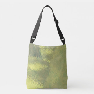 Golden Glass Design Crossbody Bag