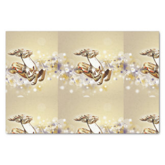 Golden Glass Holiday Reindeer Tissue Paper