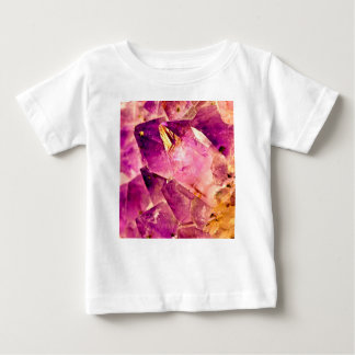 Golden Gleaming Amethyst Crystal Baby T-Shirt