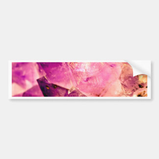 Golden Gleaming Amethyst Crystal Bumper Sticker