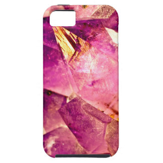 Golden Gleaming Amethyst Crystal iPhone 5 Cover