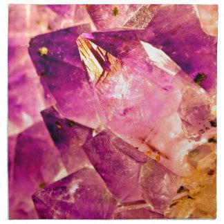 Golden Gleaming Amethyst Crystal Napkin