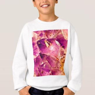 Golden Gleaming Amethyst Crystal Sweatshirt