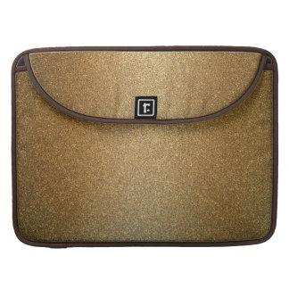 Golden Glitter Abstract Art Macbook Pro Sleeve