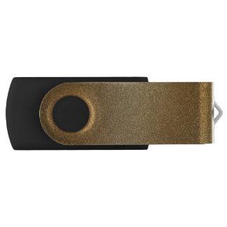 Golden Glitter Abstract Art USB Flash Drive