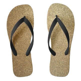 Golden Glitter Abstract Art Wide Strap Sandals