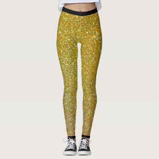 Golden glitter design, leggings