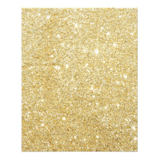 Golden Glitter Diamond 11.5 Cm X 14 Cm Flyer