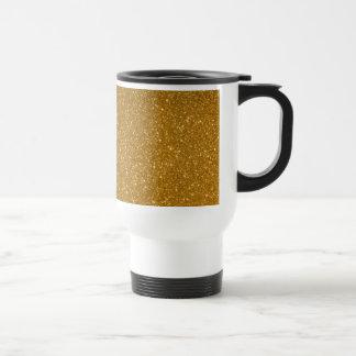 Golden glitter coffee mug