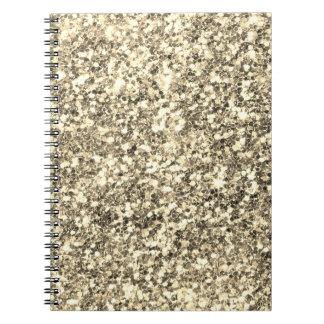 Golden Glitter Notebook