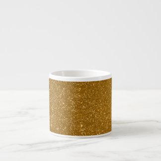 Golden glitter espresso cups