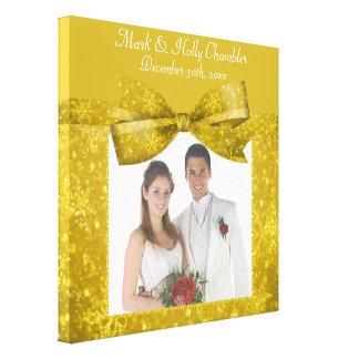 Golden Glitz & Shimmer Add A Photo Frame Up Canvas Print