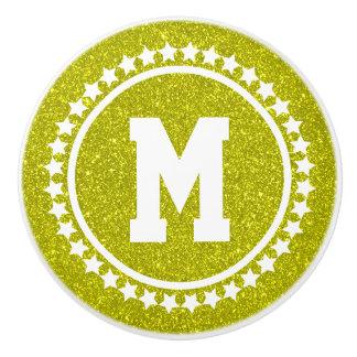 Golden Glitz Super Star Monogram Ceramic Knob