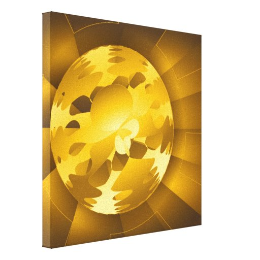 Golden Globe Stretched Canvas Prints