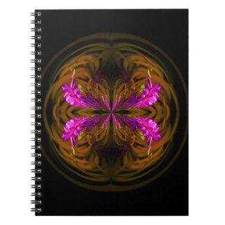 Golden globe flowers notebook
