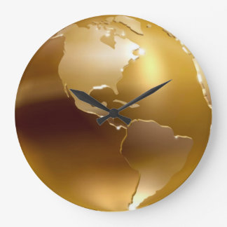Golden Globe Wall Clock
