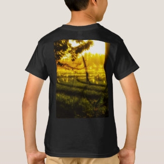 Golden Glow of Late Afternoon on Balinese Rice Fie T-Shirt