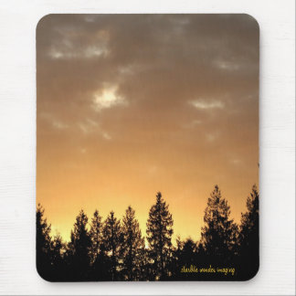 Golden Glow Sky Mouse Pad