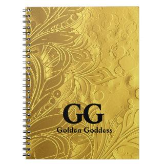 Golden Goddess Celebrate Happy 50th Birthday Party Notebooks