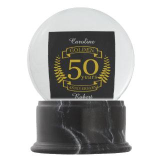 GOLDEN Golden 50 Years Wedding Anniversary 50 all Snow Globe