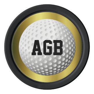 Golden Golf ball spotter/reminder Poker Chips
