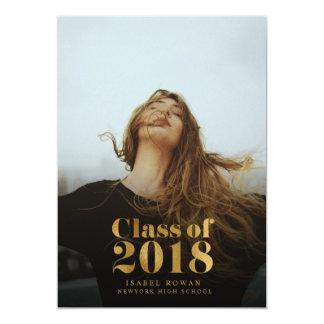 Golden Graduate | Graduation Photo Announcement