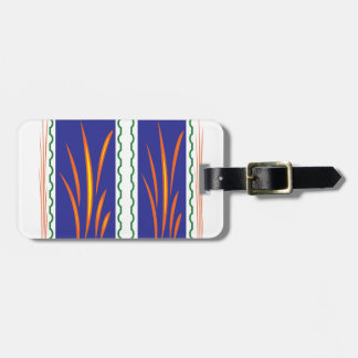 Golden Grass Reflection Colors at Sunset  fun gift Luggage Tag