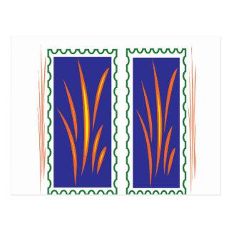 Golden Grass Reflection Colours at Sunset  fun Postcard