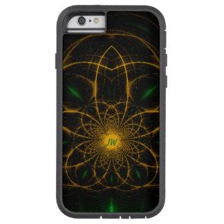 Golden Green Fractal Monogram Tough Xtreme iPhone 6 Case