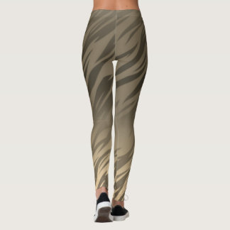 Golden Grey Flaming Leggings