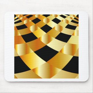 Golden grid background mouse pad
