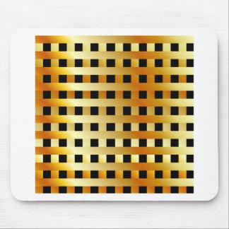 Golden grid mouse pad