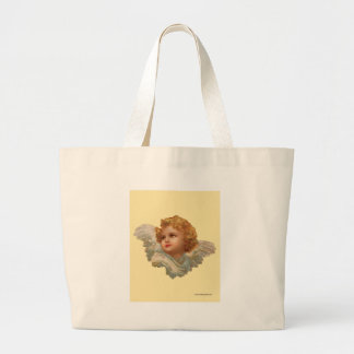 Golden Haired Cherub Large Tote Bag