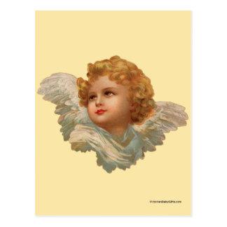 Golden Haired Cherub Postcard