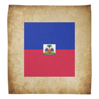 Golden Haiti Flag Bandana