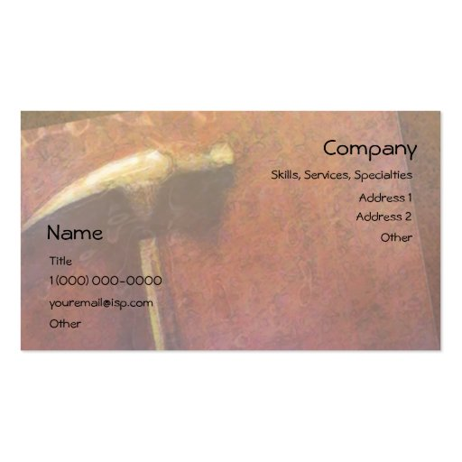 Golden Hammer Carpenter Business Card