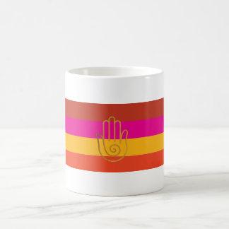 Golden hand boho mug