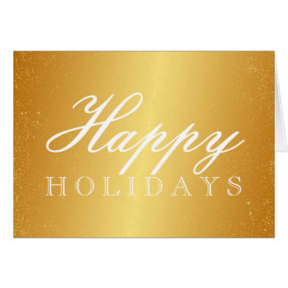 Golden Happy Holidays Card