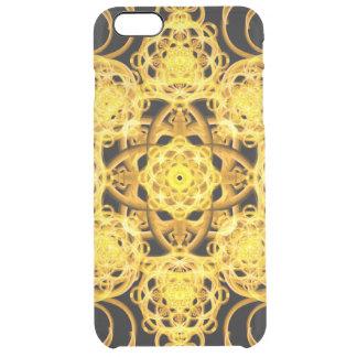 Golden Harmony Mandala Clear iPhone 6 Plus Case