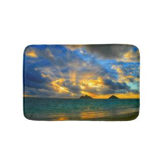 Golden Hawaiian Tropical Sunset Bath Mat
