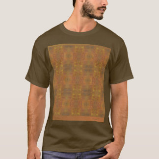 Golden Haze Abstract on brown T Shirt