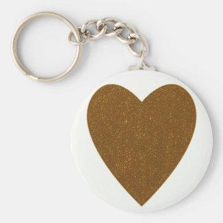 "golden heart 2.25"" Basic Button Keychain"